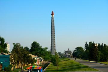 Juche Tower, Pyongyang, North-Korea