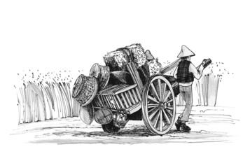 farmer older of rural culture
