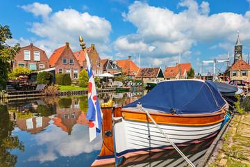 Classic sloop in Hindeloopen, The Netherlands