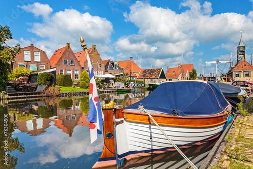 Classic sloop in Hindeloopen, The Netherlands - 76304500
