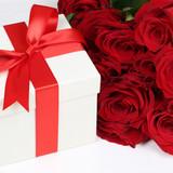 Geschenk Schachtel mit Rosen für Geschenke zum Geburtstag, Mutt poster