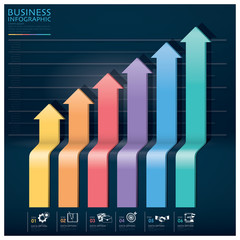 Business Infographic With Arrows Diagram Step Chart