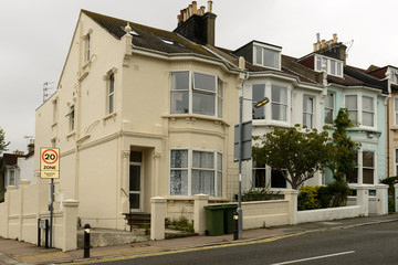 old terrace at Brighton, East Sussex