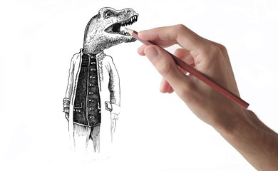 designer and dinosaur gentleman