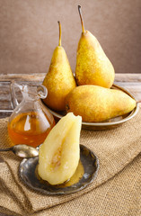 Pear with honey