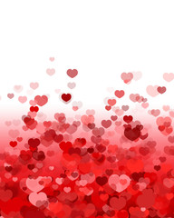 Valentine's Day Background with Hearts Scattered