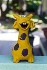 Yellow Giraffe Statue