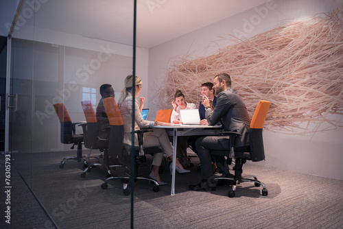 canvas print picture business people group at office