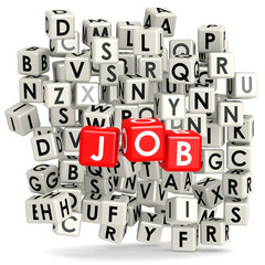 Job with puzzle background