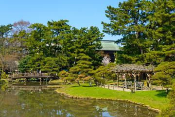 Hakusan Park in the city of Niigata, Japan