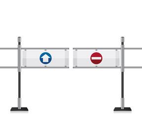Entrance gate illustration