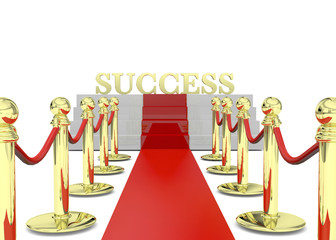 Success on Red Carpet - 3D