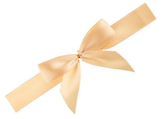 cream colored ribbon isolated, cutout
