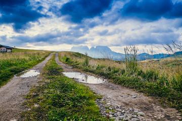 Paesaggio di montagna sulle Dolomiti