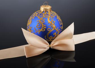 Christmas ball on black background