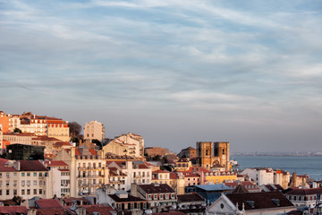 View Over City of Lisbon at Sunset