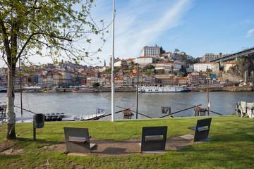 City of Porto in Portugal Skyline