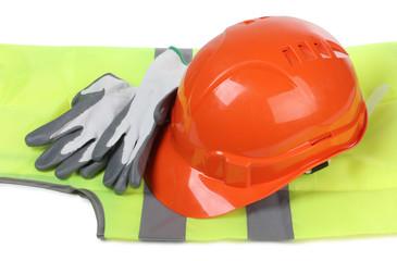 Gloves and helmet