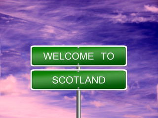 Scotland Welcome Travel Sign