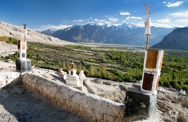 Nubra valley from roof of royal castle
