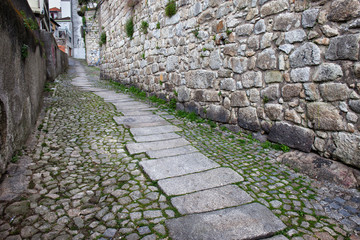 Ascending Cobbled Street in the Old Town