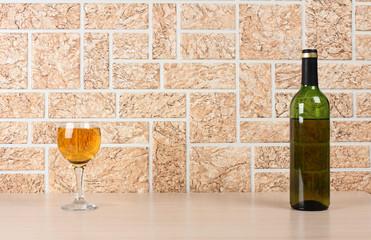 Wineglass on wall