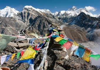 view of everest from gokyo ri - way to Everest base camp