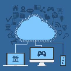 clouds services concept