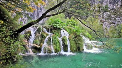Plitvice Lakes Waterfall in Croatia