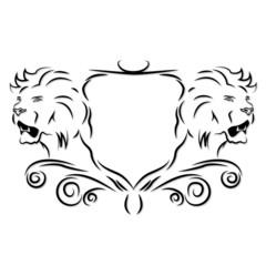 Löwe Wappen Logo Vektor