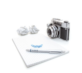 Photography blog background concept