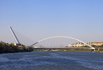 Alamillo bridge over Guadalquivir, Seville