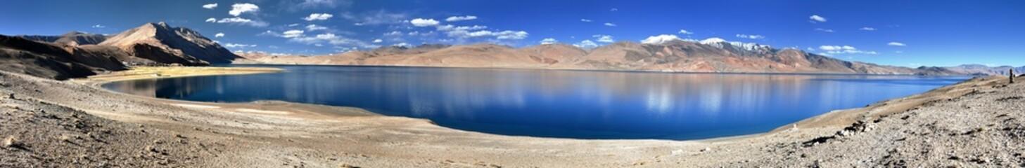 panoramic view of Tso Moriri lake