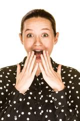 Surprised Caucasian Woman