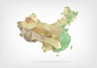 Low Poly map of China