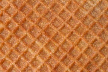 Close up image of sweet waffle