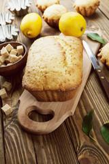 Homemade lemon cake
