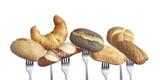 Verschiedene Frühstücksbrötchen