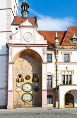 renaissance town hall with actronomical clock, Olomouc, Czech re