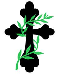 Cross twined vine