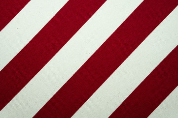 Red and white striped canvas texture and background