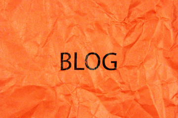 word blog on paper