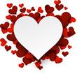 Obrazy na płótnie, fototapety, zdjęcia, fotoobrazy drukowane : Valentine's background with red hearts.