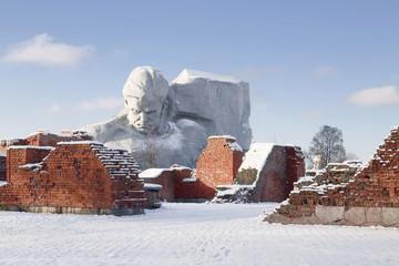 War monument to the brave, Brest fortress, Belarus