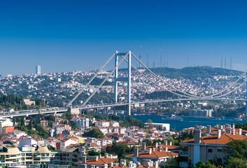 Wonderful aerial view of Bosphorus Bridge in Istanbul