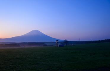 Mt.Fuji and Asagiri Highland at dawn in Fujinomiya, Shizuoka, Ja
