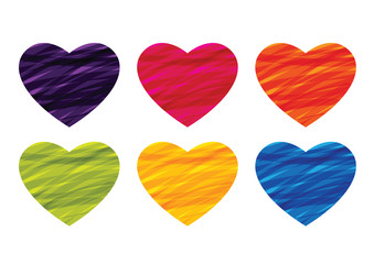 heart ribbon in colorful vector