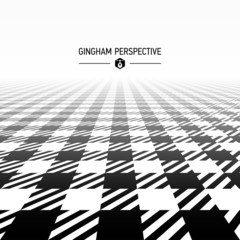 Gingham pattern in perspective