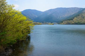 Lake Tanuki in Fujinomiya, Shizuoka, Japan
