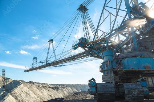 Leinwanddruck Bild Mining machinery in the mine